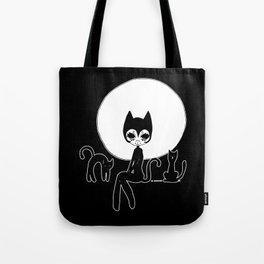 ▴ black cat ▴ Tote Bag