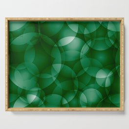 Dark intersecting green translucent circles in bright colors with a grassy glow. Serving Tray