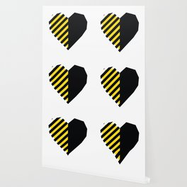 Yellow Love Heart Wallpaper