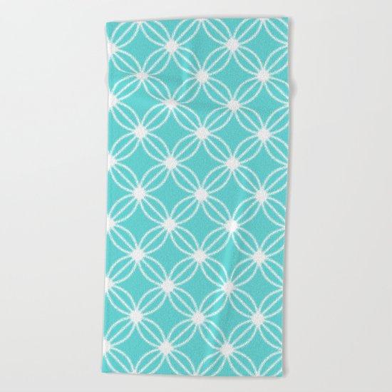 Abstract Circle Dots Mint Beach Towel
