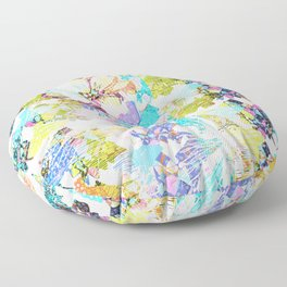 Mish Mash Abstract Floor Pillow