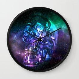vaporwave skull Wall Clock