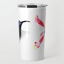 Hummingbird and Honeysuckle Travel Mug