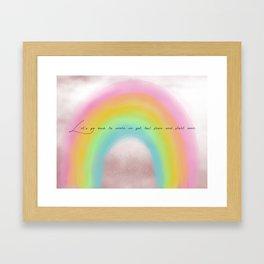 starting over. Framed Art Print