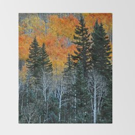 Autumn Forest Throw Blanket