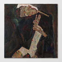Egon Schiele - The Lyricist Canvas Print