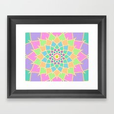 Pastel Lotus Framed Art Print