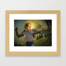 The Queen will conquer Framed Art Print