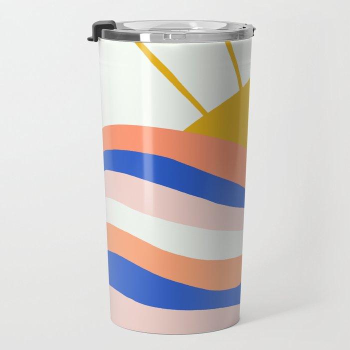 sunrise surf Travel Mug