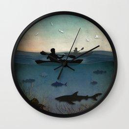 Sea Kayaking Wall Clock