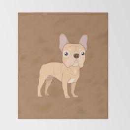 Frenchie Throw Blanket