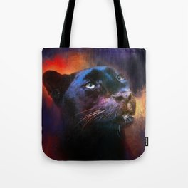 Colorful Expressions Black Leopard Tote Bag