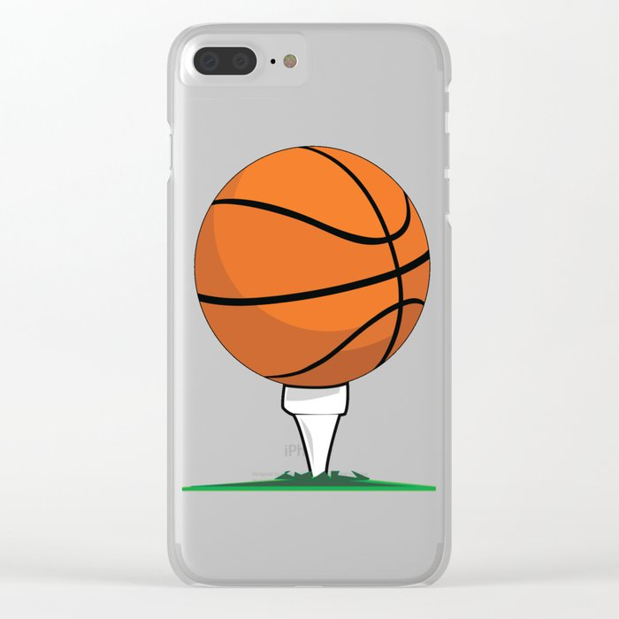 Basketball Tee Clear iPhone Case