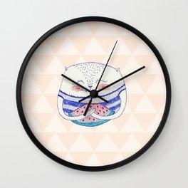 summertime cat Wall Clock