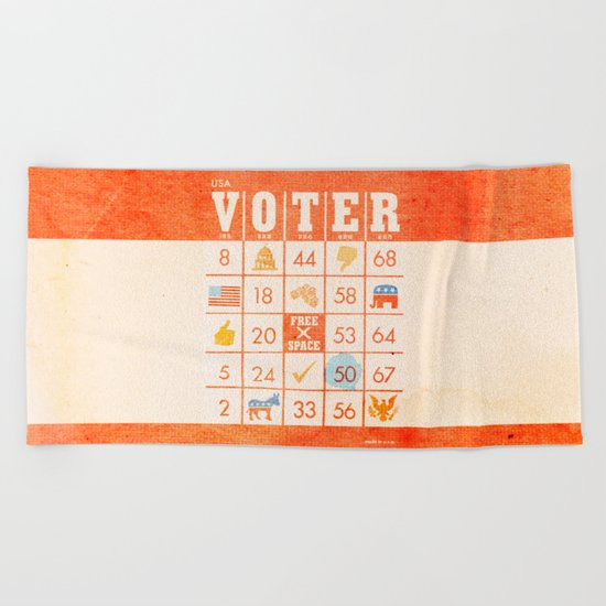 The Bingo Vote Beach Towel