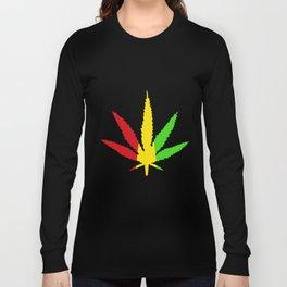 Rasta Leaf Smokin Dub Reggae Weed Dancehall Dubstep Skunk Marijuana Weed T-Shirts Long Sleeve T-shirt