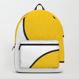 Yellow Face - Hipster - Trendy - Emoji Backpack
