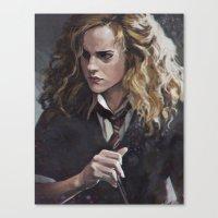 hermione Canvas Prints featuring Hermione  by Ilya Brovkin