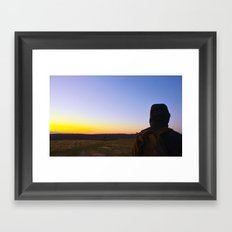 Facing Dawn Framed Art Print