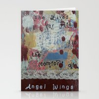 angel wings Stationery Cards featuring Angel wings  by drskippyart
