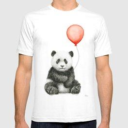 Baby Panda and Red Balloon T-shirt