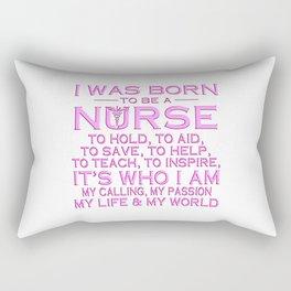I WAS BORN TO BE A NURSE Rectangular Pillow