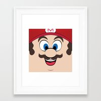 super mario Framed Art Prints featuring Super Mario by Shakeel