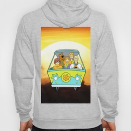 dog scooby sunset Hoody