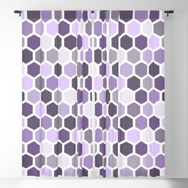 Colorful honeycomb pattern 2 Blackout Curtain