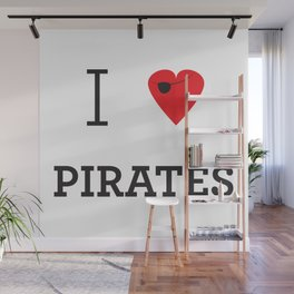 I heart Pirates Wall Mural