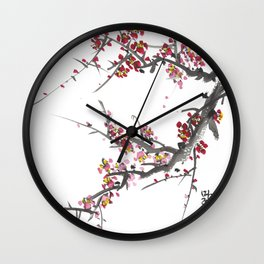 Cherry Blossom One Wall Clock