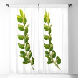 Green Foliage Blackout Curtain