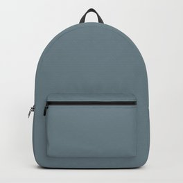 Misty Mountain Blue Gray Solid Color Pairs To Sherwin Williams 2021 Trending Blustery Sky SW 9140 Backpack