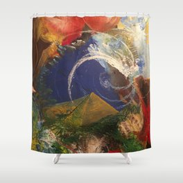 Pyrimidic Decontainment Shower Curtain