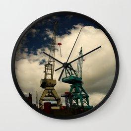 Harbor Crane Wall Clock