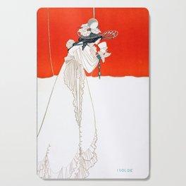 Isolde - By Aubrey Beardsley - Vintage Art Nouveau Print Cutting Board