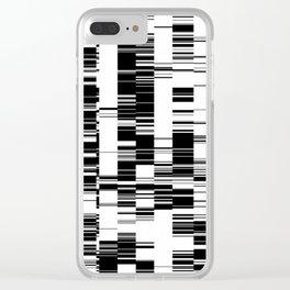 Data Glitch Clear iPhone Case