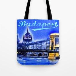 Budapest, blue Tote Bag