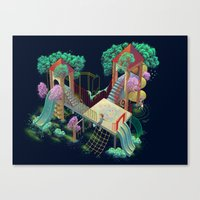 lovers Canvas Prints featuring Lovers by Miguel Co