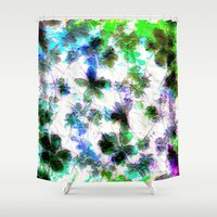 jungle Shower Curtains featuring jungle by Lydia Cheval