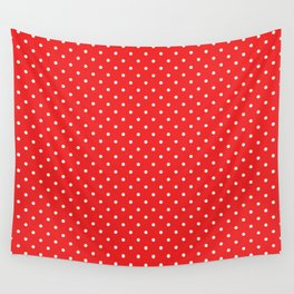 Domino Dots red and white Wall Tapestry