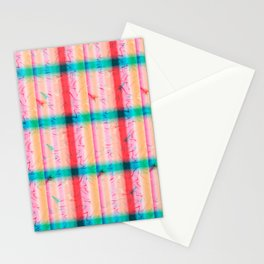Pink Blue Square Stationery Cards