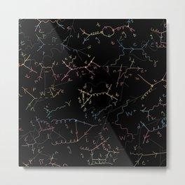 Physics: Feynman Diagrams Metal Print