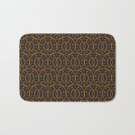 Seamless pattern in Indonesian batik style on the brown background.  Bath Mat