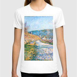 Claude Monet - The Road to Vetheuil - Digital Remastered Edition T-shirt