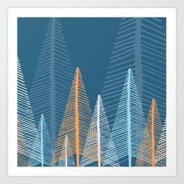Deep Forest - Dusk Art Print