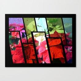 Mixed color Poinsettias 3 Tinted 1 Canvas Print