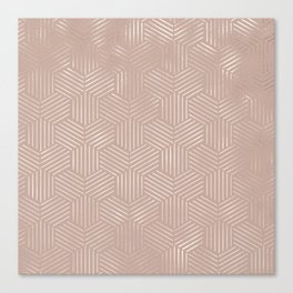 Beautiful Elegant Rose Gold Pattern Canvas Print