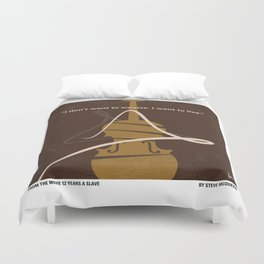 No268 My 12 years a slave minimal movie poster Duvet Cover