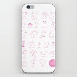 Faces of Rafiki iPhone Skin